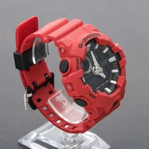 Casio G-Shock Analog Digital Red Resin World Time Stopwatch Watch GA-700-4ACR