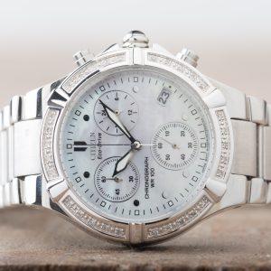 Citizen Eco-Drive Riva Chronograph Diamonds Date WR100 Women's FB1020-52D