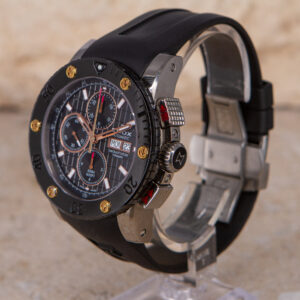 Edox Class 1 Chronoffshore Automatic Chronograph Black Day Date Watch 01107