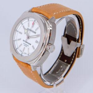 JeanRichard Terrascope Automatic Date White Dial Swiss Watch ref. 60500